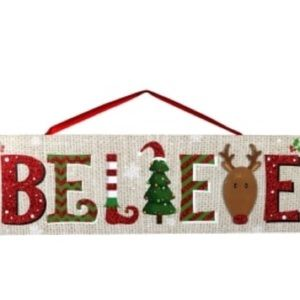 "🎄""Believe"" Christmas home decor sign🎄"
